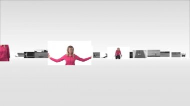 Athletics Montage of womens Fitness — Stock Video