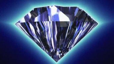 Вращающийся алмазный — Стоковое видео