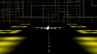 CGI Plane Taking off — Stock Video