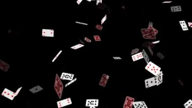 Poker Cards Falling — Stock Video #14813407