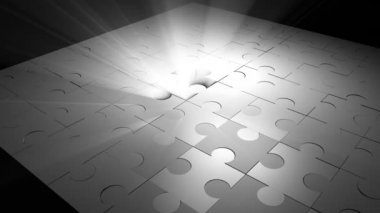 Jigsaw Puzzle — Stock Video
