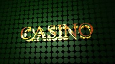 Casino Sign — Stock video