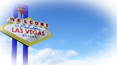 Vegas Sign in CGI — Stock Video