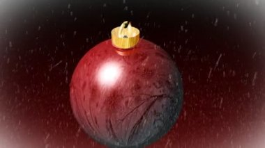 Christmas Tree Ball — Stock Video
