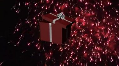3D Falling Christmas Presents — Stock Video