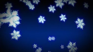 3D Snowflakes Falling — Stock Video
