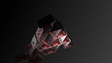 Falling House of Cards — Stock Video