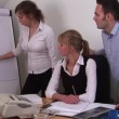 Teamwork from a Office Workers — Stock Video #14943777