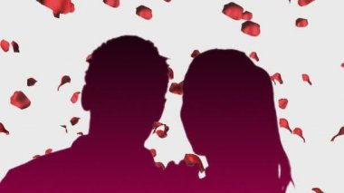 Romantic Couple with animated background