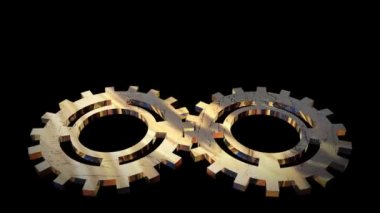 Animated Gears and Cogs turning