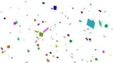 White Confetti Falling — Stock Video
