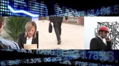 Animasyonlu küresel durgunluk kavramı — Stok video