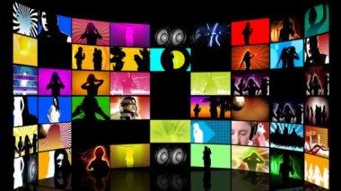 Montage van de tieners dans — Stockvideo