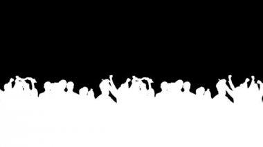 CROWD CHEERING — Stock Video