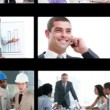 Hand dragging business videos - Stock Photo