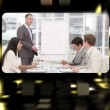 Royalty-Free Stock Vector Image: Montage about business meetings