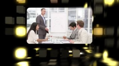 Montage about business meetings — Stock Video #15366295