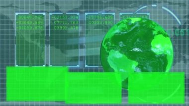 Animated green Earth displaying copy spaces — Stock Video