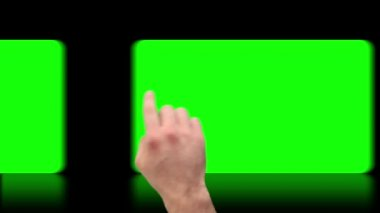 Hand activating copy spaces on touch screen — Stock Video