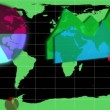 Diagrams appearing on a world map — ストックビデオ