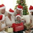 Family Christmas at home — Stok Video #15377339