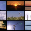 Stock Video: 3D animation presenting wind power