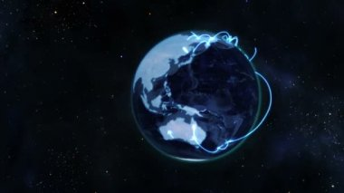 A video emerges from the earth and shows business shaking hands with earth image — Stock Video