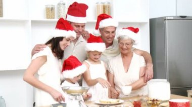 Homely Christmas Dinner with all the family — Stock Video