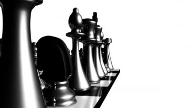 Animation of chess set in motion — Stock Video