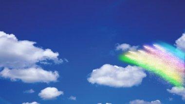 радуга в высокой четкости — Стоковое видео