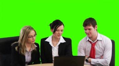 Chroma key Business footage — Stock Video