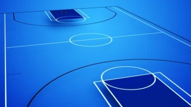 Animation of an interactive basket field in blue colours