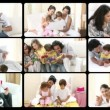 Montage of the concept of parenthood — Stockvideo