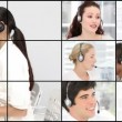 HD video footage of a business call centre — Stock Video