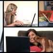 Stock animation showing radiant women using a laptop — Stock Video #15381957