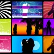 Montage footage presenting silhouettes dancing — Stock Video #15382859