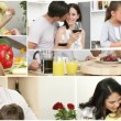 Royalty-Free Stock Vector Image: Family in the Kitchen