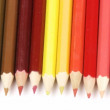 Stock Video: Panorama of colorful pencils