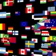 Flags of the world animated — Stock Video