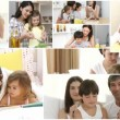 Royalty-Free Stock Vector Image: Family at Home