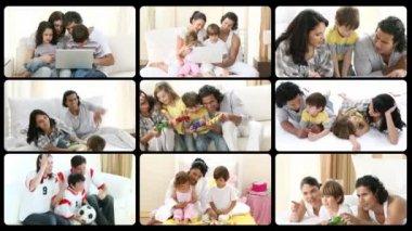 Montage av begreppet föräldraskap — Stockvideo