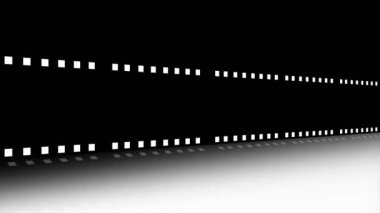 Animation of a film strip announcing a movie — Stock Video
