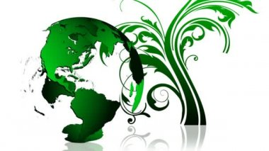 Animation of a green Earth planet. Green and ecological world concept — Stock Video