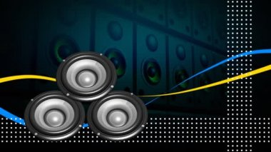 Animation of loudspeakers. Concept of entertainment — Stock Video
