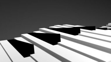 3d Piano keys — Stock Video