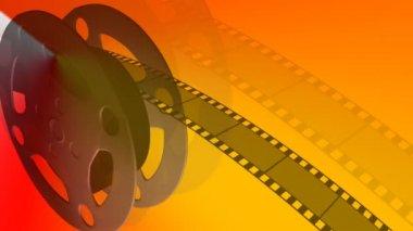 Film Reel Moving — Stock Video