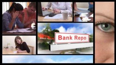 Ekonomik durgunluk kavramı animasyon — Stok video