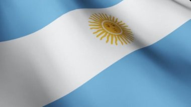 Flag of Argentina — Stock Video