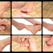 Stock Video: Animation presenting feet massage