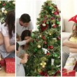 Family having fun at Christmas - Stockfoto
